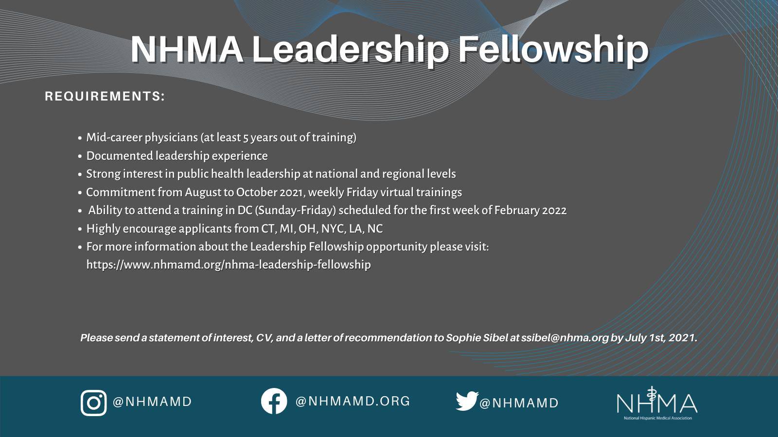 Leadership fellowship promo graphic